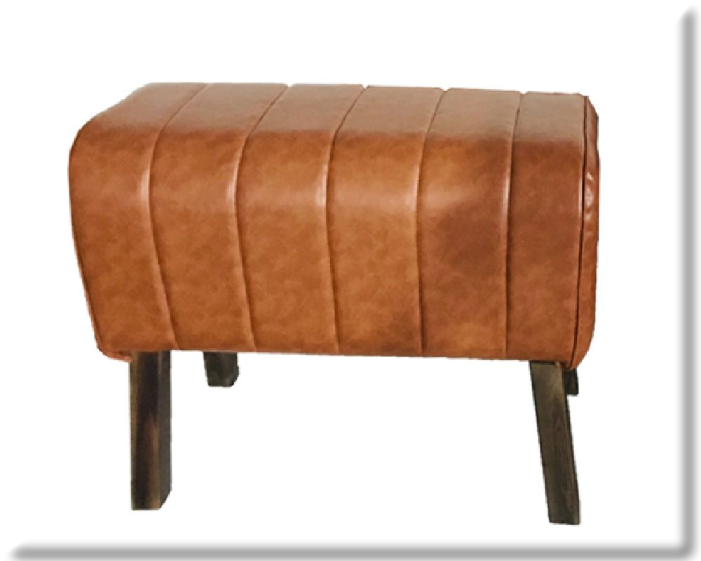 88cm Rolled Natural Faux Leather Gym Pommel Horse Stool