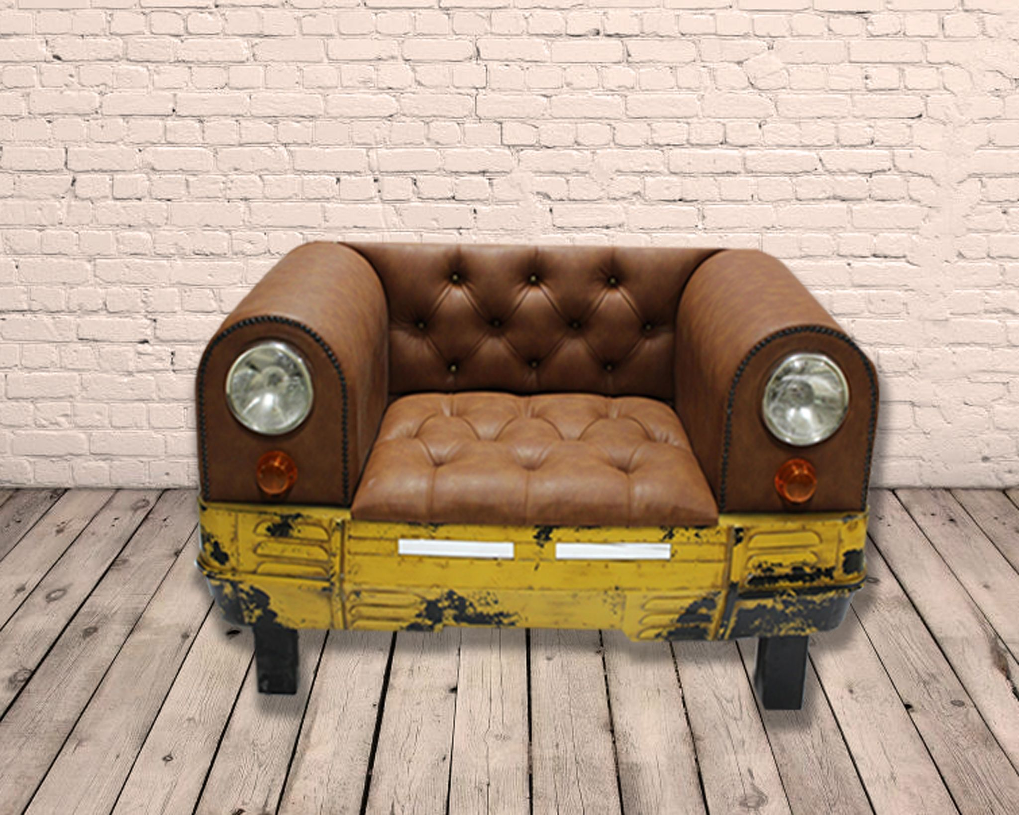 Wondrous Industrial Pu Leather Car Sofa Seat Gmtry Best Dining Table And Chair Ideas Images Gmtryco