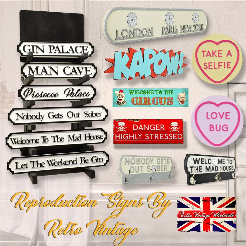 Personalised Vintage Gifts - Reproduction Road Signs | Retro Design UK